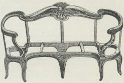 Fransk Arbejdstegning til en Sofa fra Tiden efter 1750