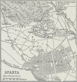 Fig. 2. Situationsplan over Sparta.