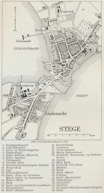 Situationsplan over Stege.