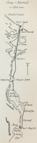 Situationsplan over Sues-Kanal.