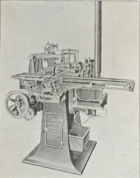 Fig. 4. Lanston's Satsstøbningsmaskine »Monotype«,