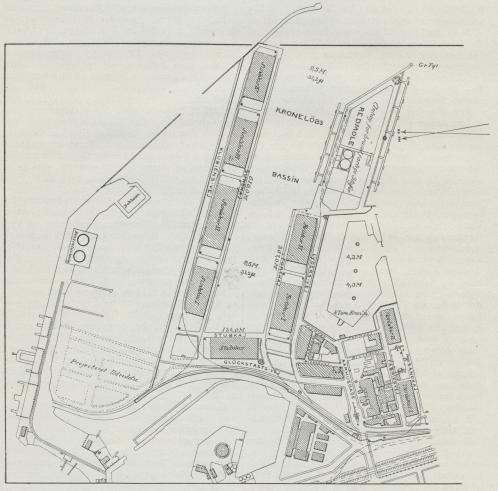 Situationsplan over Kjøbenhavns Frihavn.