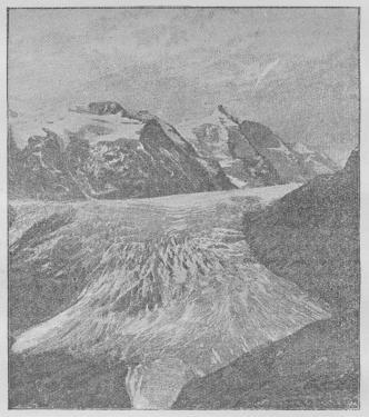 Fig. 3. Gross Glockner og Pasterzerbræen.