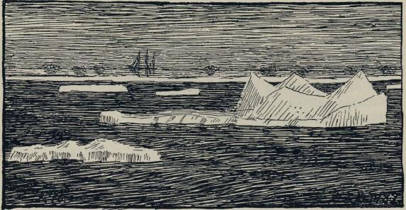 <smalIll. F.N.[=Fridtjof Nansen] 10.IV.82.</smal<bLuft-speiling. Skisse 10. april 1882.