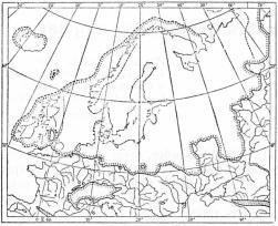 Den skandinaviska landisen samt Alpernas och<bövriga europeiska fjällområdens landisar vid tiden<bför deras största utbredning.