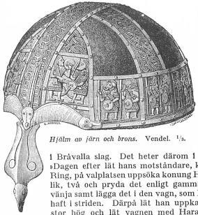 Hjälm av järn och brons. Vendel. <su1</su/<su3</su.