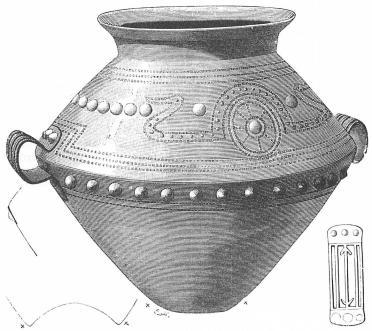 Italienskt bronskärl, funnet i Sverige. <su1</su/<su7</su.