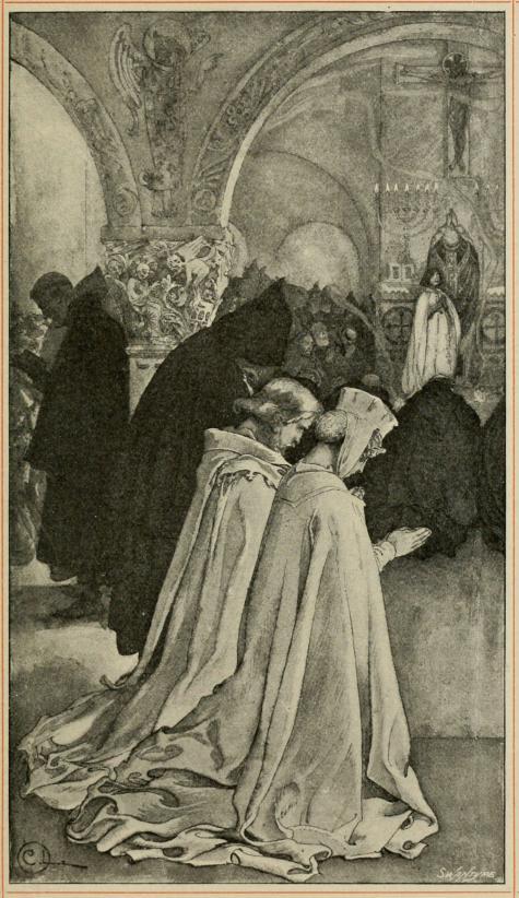 <smalIll. C. L.[=Carl Larsson]SWANTYPE</smal<bRiddaren och pilgrimen.