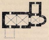 Fig. 7. Hemmesjö kyrkas grundplan. (A-typen).