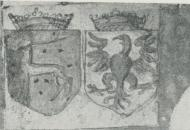 <bVapnet sådant det återges i en laghandskrift från 1500-talets slut.