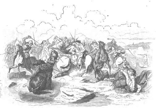 <biGustav II Adolfs Död i Slaget vid Lützen.</bi<b(Originaltaflan af C. Wahlbom finnes i Kongl. Museum i Stockholm.