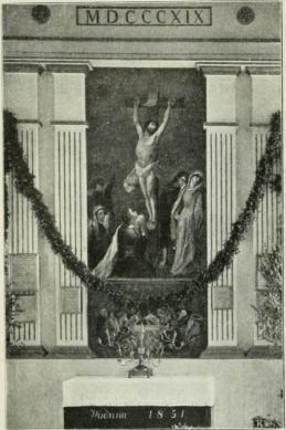 Alttaritaulun yläosa. (Vähäkyrö, S. Lundgrenin maalaama<b1892.)