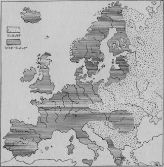 Karta V. Panslavistisk karta öfver Europa.<bEfter <span class=