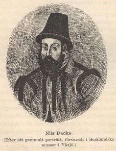 Nils Dacke.<b(Efter ett gammalt porträtt, förvaradt i Småländska<bmuséet i Växjö.)