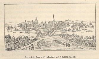 Stockholm vid slutet af 1500-talet.