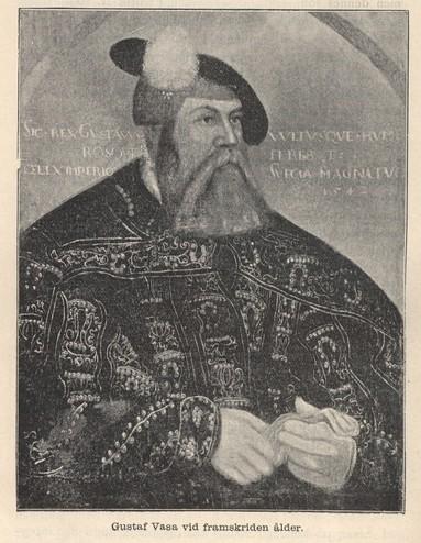 Gustaf Vasa vid framskriden ålder.