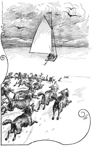 <bEn flock uthungrade prärievargar sökte hinna fatt jakten.