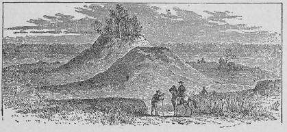 Förhistoriska grafhögar, nära Little Rock, Arkansas.
