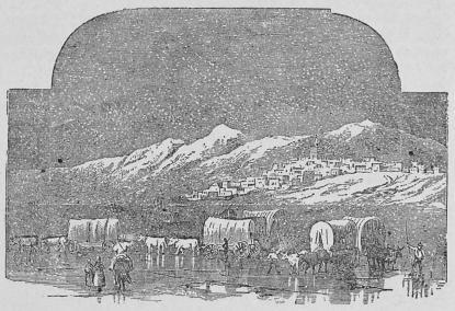 Utsikt af Nauvoo, mormonstaden i Illinois.